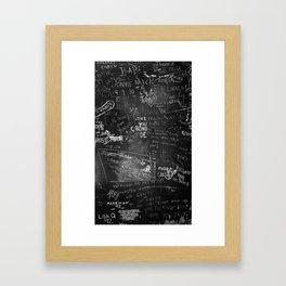 Prison Inscriptions 78-90 Framed Art Print