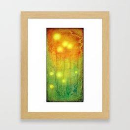 Glowing Lights Framed Art Print