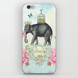 Paris Elephant iPhone Skin