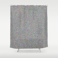 gray Shower Curtains featuring gray by ecceGRECO