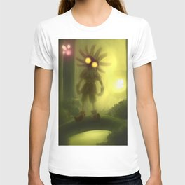 Skull kid in forest T-shirt