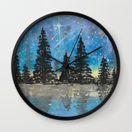 Galaxy Reflections Wall Clock