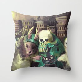 halloween comrades Throw Pillow