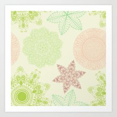 Hand Drawn Mandala Pattern 05 Art Print
