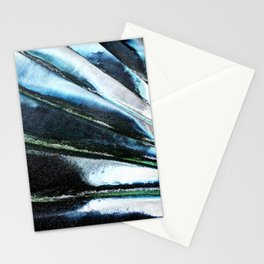 Metallic Waves Stationery Cards