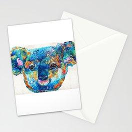 Colorful Koala Bear Art by Sharon Cummings Stationery Cards