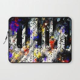 piano keys and music sheet pattern wsstd Laptop Sleeve