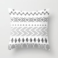 nordic Throw Pillows featuring NORDIC by Annet Weelink Design