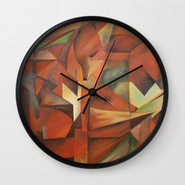 Foxes - Homage to Franz Marc (1913) Wall Clock