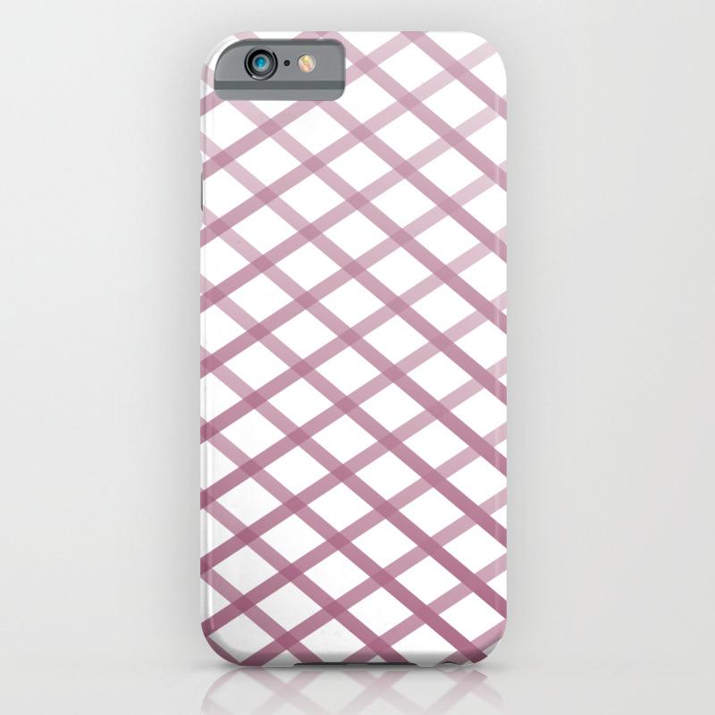 online store 4c3c1 c7d51 Plum Cross Stitch iPhone Case