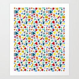 Rainbow Mosaic Pattern Art Print