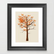 Blazing Fox Tree Framed Art Print