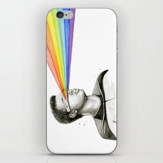 Geordi Rainbow Watercolor Portrait Geek Sci-fi iPhone & iPod Skin