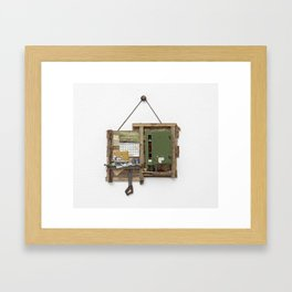 Fragmented Cabin Study in 1:10 Scale Framed Art Print