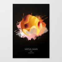 mega man Canvas Prints featuring Mega Man by Head Glitch