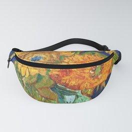 Van Gogh, Five Sunflowers 1888 Artwork Reproduction, Posters, Tshirts, Prints, Bags, Men, Women, Kid Fanny Pack