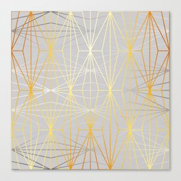 ELEGANT SILVER GOLD DIAMONDS-1 Canvas Print