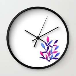 Simple and cute watercolor  floral Wall Clock