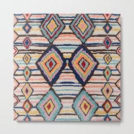 Heritage Multicolore Morocco Berber Rug  Metal Print