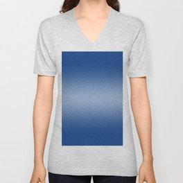Blue to Pastel Blue Horizontal Bilinear Gradient Unisex V-Neck