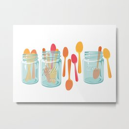 Party Spoons for Summer Metal Print