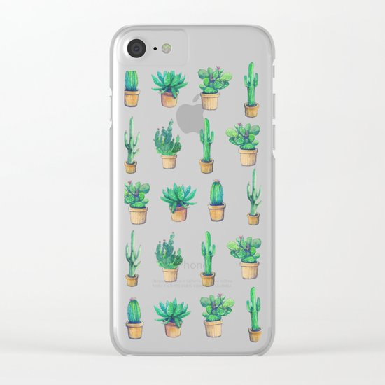 Cactus pink original version Clear iPhone Case