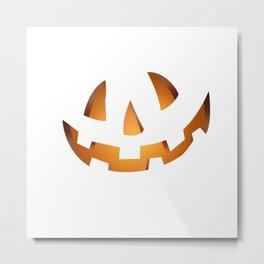 Pumpkin Head Orange Metal Print