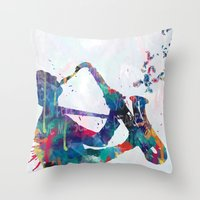 music Throw Pillows featuring music by mark ashkenazi