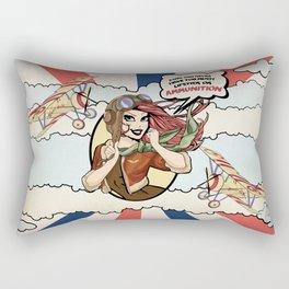 Bombin' Betty Rectangular Pillow
