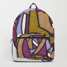 Be Honest Graffiti Style Abstract Drawing Backpack