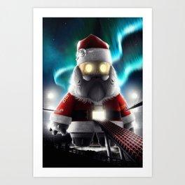 Robot Santa Art Print