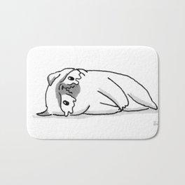 Sad Mochi the pug Bath Mat