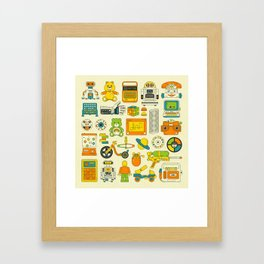 RETRO TOYS Framed Art Print