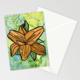 Orange Lilly Stationery Cards