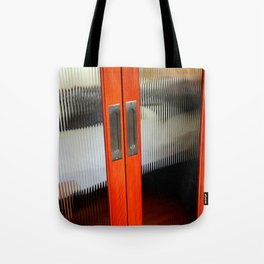 Ribbed Glass Doors - A Half Made Bed Tote Bag