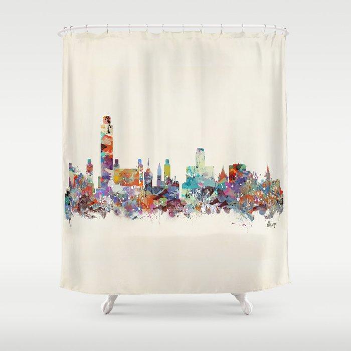 Albany New York Skyline Shower Curtain