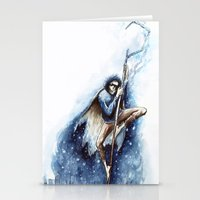 jack frost Stationery Cards featuring Jack Frost by Ines92