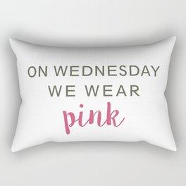 We Wear Pink Rectangular Pillow