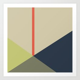 bandana || camou & coral Art Print