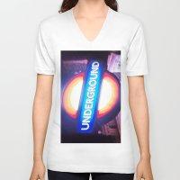 velvet underground V-neck T-shirts featuring underground by dillon hesse