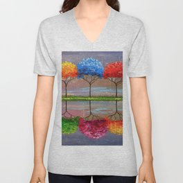 Each tree has its own smell Unisex V-Neck