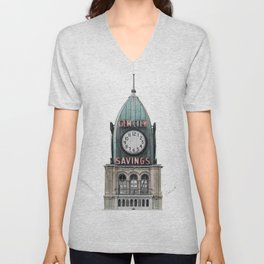 The Gem City Clock Unisex V-Neck