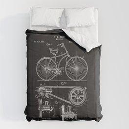 Vintage Bicycle patent illustration 1890 Comforters