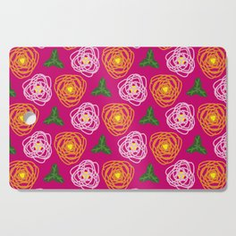 Bright pink floral Cutting Board