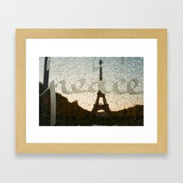 peace in paris Framed Art Print