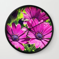 Flower Power 6 Wall Clock