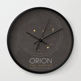 Orion Constellation - The Hunter Wall Clock
