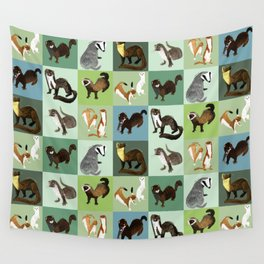 Best Nine  Mustelids from Spain Wall Tapestry