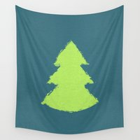 christmas tree Wall Tapestries featuring (Christmas) Tree by Mr & Mrs Quirynen