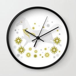 Xmas Horsey Wall Clock